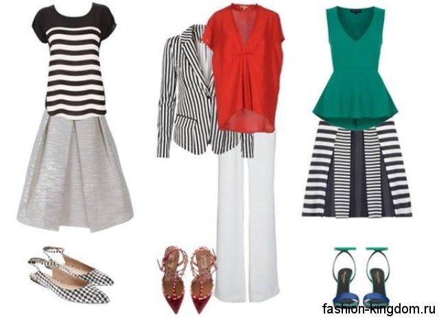Повседневная одежда для девушек с фигурой перевернутый треугольник.