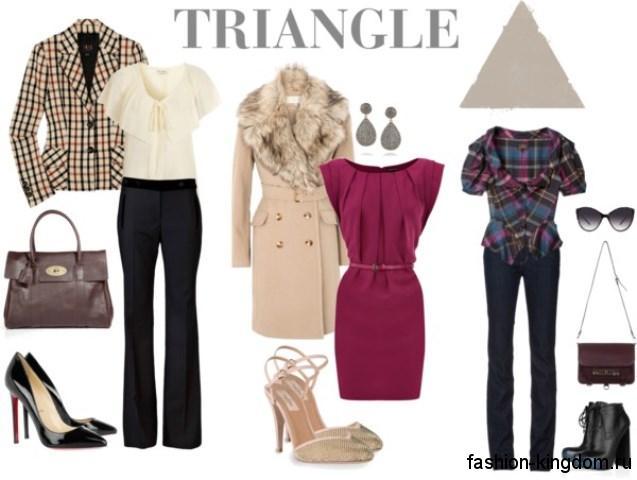 Как одеваться девушкам с типом фигуры «А» - стильные варианты для офисного, вечернего и повседневного образа.