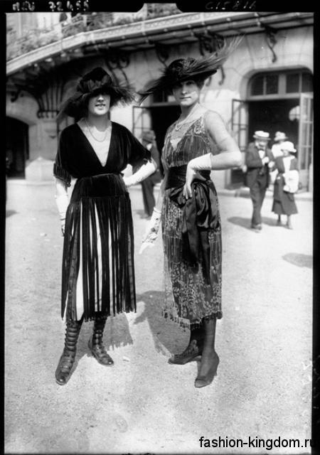 Обувь и аксессуары в женской моде 1910 годов