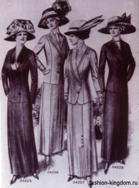 Женская мода 1910 годов