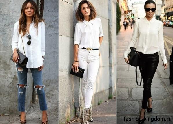 eff02ae4d2e Модные белые блузки – 35 фото актуальных фасонов