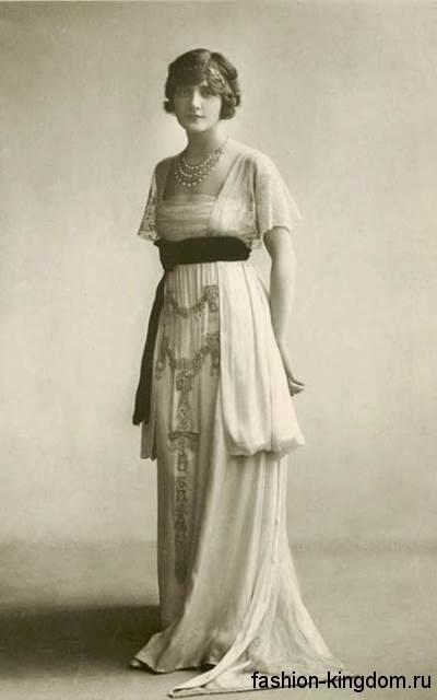 Фасон платья модных 1910-х