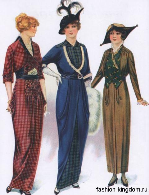Модели платьев в моде 1910 годов