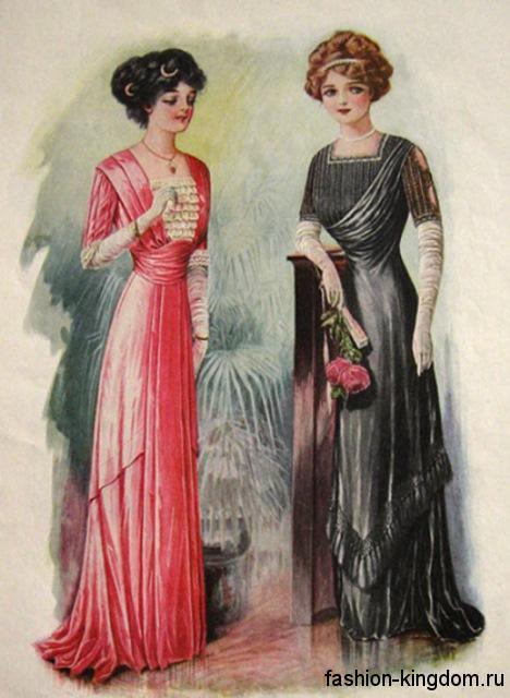 Модные платья 1910 годов прошлого векаМодные платья 1910 годов прошлого века