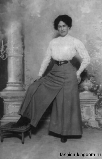Женские брюки и блуза в моде 1910 годовЖенские брюки и блуза в моде 1910 годов