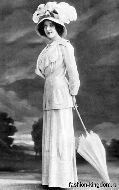 Женские аксессуары в моде 1910 годов
