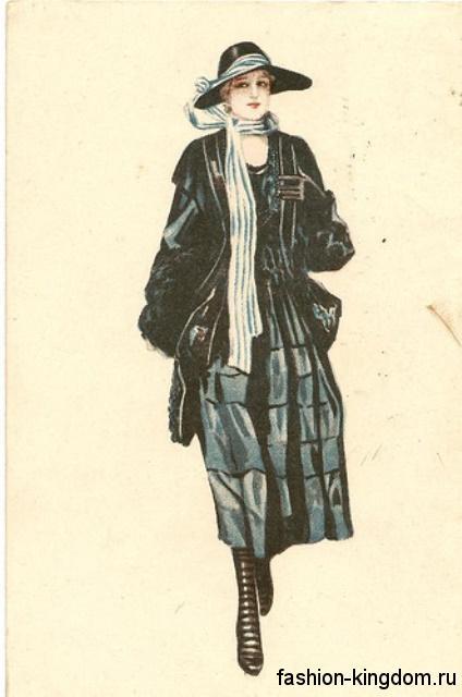 Фасон женская одежды 1910 годов