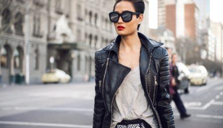 Что одеть с кожаной курткой: 30 стильных идей