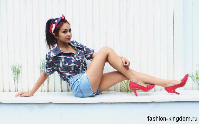 099b2d17effb Образы с джинсовыми шортами: 30 фото идей | Fashion-Kingdom